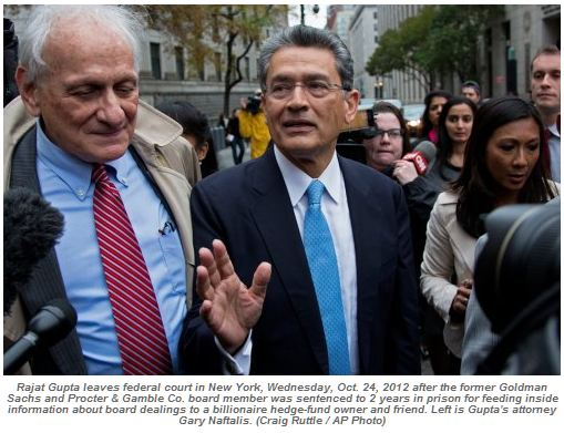 Ex-Goldman Board Member Boss Rajat Gupta Sentenced for Insider Trading